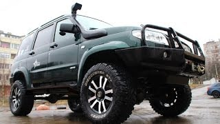 Тест драйв УАЗ Патриот против Toyota Land Cruiser 80, TLC 100, Pajero Sport(УАЗ Патриот подготовлен в