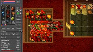 [Tibia Clips]FAIL #002 - LVL 135 ED trying to be a hero in Annihilator