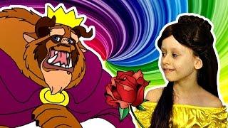 Превращение в Принцессу Принцессы Диснея БЕЛЛЬ Красавица и Чудовище Куклы Наряды Видео для Детей