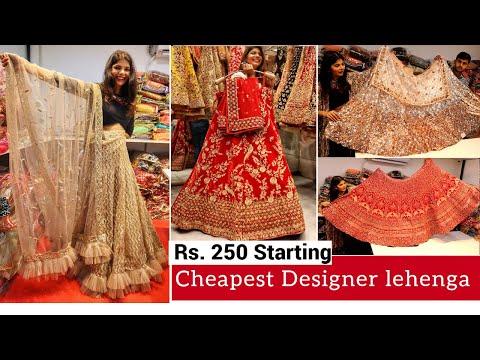 cheapest-bridal-&-designer-lehenga-choli-with-price- -surat-wholesale-lehenga-market- -सस्ते-लहंगें