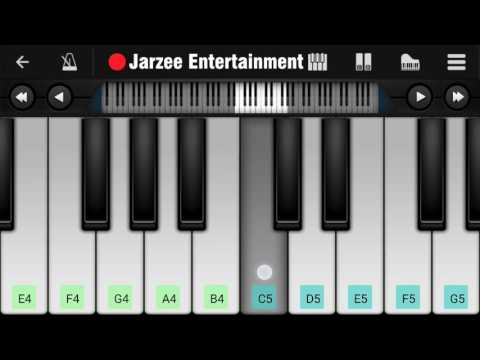 Aashiqui 2 theme Piano Tutorial on Mobile by Jarzee Entertainment