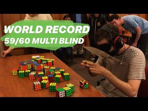59/60 59:46 Multi-Blind World Record -- Graham Siggins
