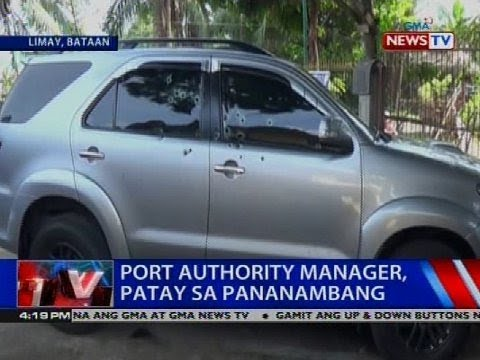 Port authority manager, patay sa pananambang