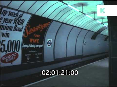 Oxford Circus Tube Station, 1969, London Underground