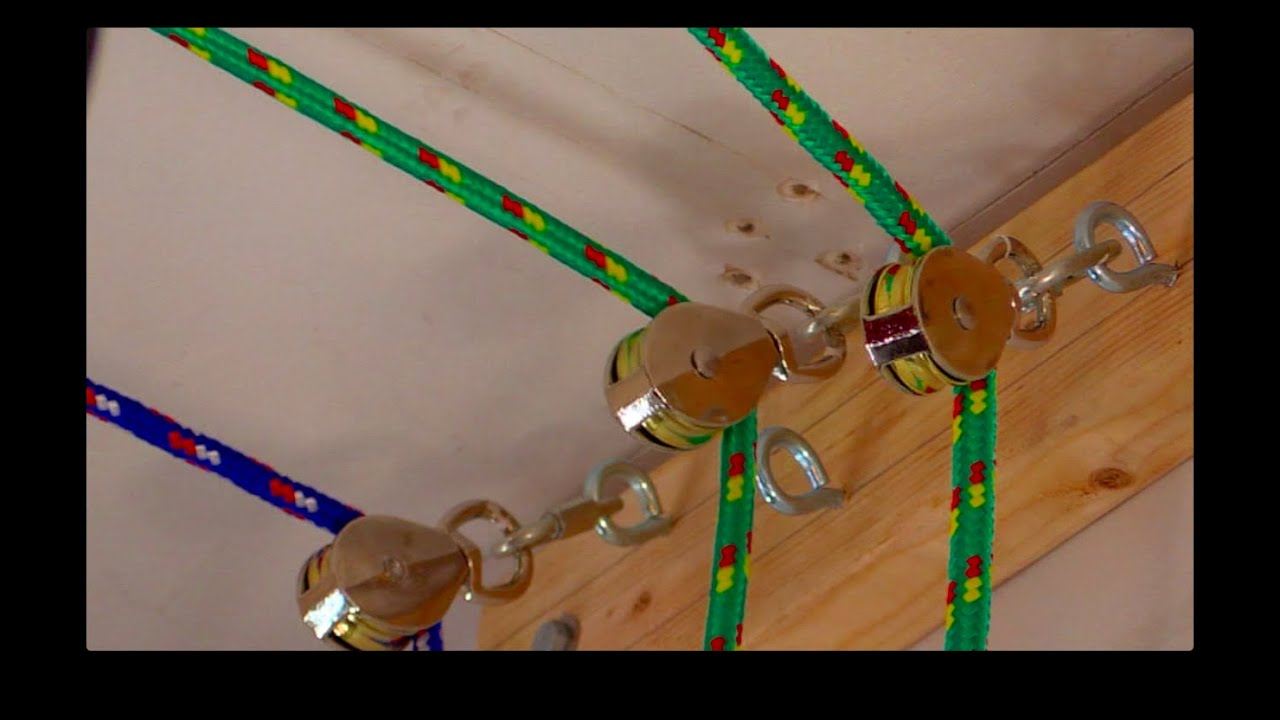 HOW TO: Create a Garage Pulley Storage System - YouTube
