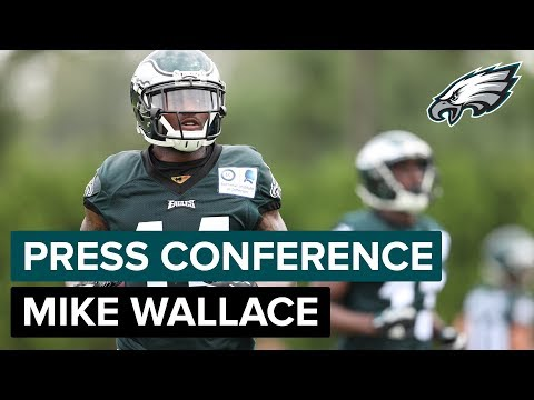 WR Mike Wallace Discusses Competing During Camp & More  Eagles Press Conference