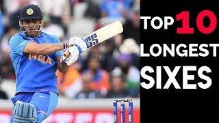 Top 10 longest sixes in the history of international cricket