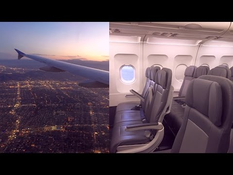 Empty Ghost Flight San Francisco - Los Angeles United Airlines Airbus A320