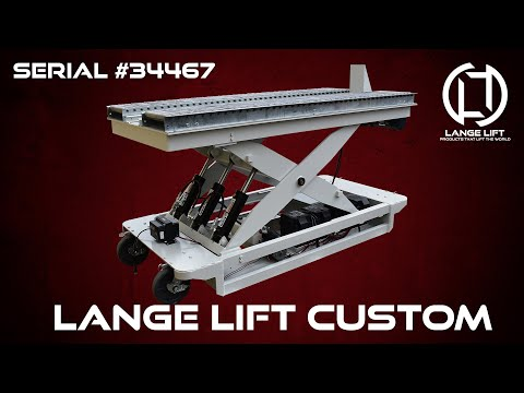 Battery Powered Scissor Lift with Powered Roller Conveyor