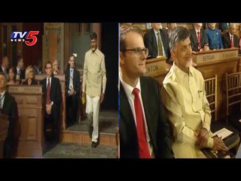 CM Chandrababu Naidu Visited Pioneer Global Head Office At Iowa | USA | TV5 News