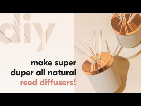 QUICK and EASY! How To Make A  Reed Diffuser with All Natural Ingredients | The Wooden Wick Co. - YouTube