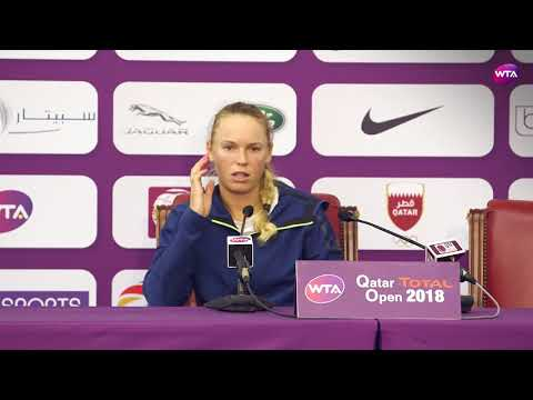 2018 Qatar Open press conference: Wozniacki wasn't happy with Niculescu's tactics