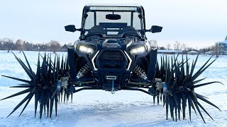 RZR on Reaper Wheels digs up Frozen Lake