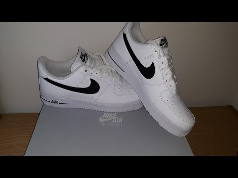 unboxing-new-nike-air-force-1-'07-3-(white-and-black)- -asmr- -no-talking