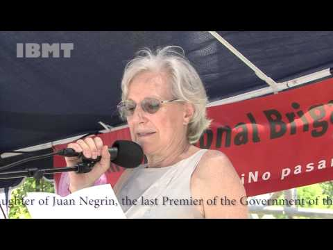 Carmen Negrin at IBMT 2015 annual commemoration