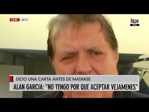 La dramática carta que dejó Alan García antes de matarse