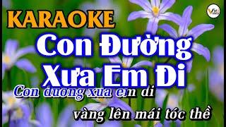 Con Đường Xưa Em Đi - KARAOKE [Tone NAM] | Âm Thanh Hay | Vici Karaoke