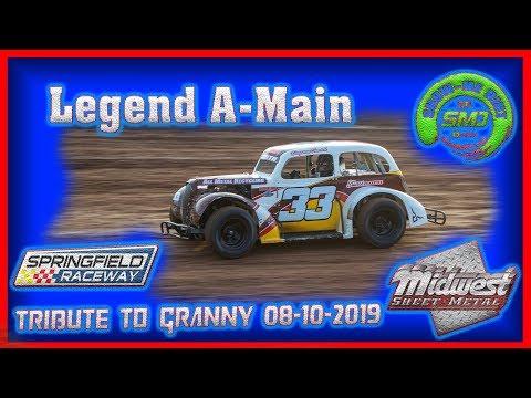 S03-E401 Legends A-Main - Tribute to Granny Springfield Raceway 08-11-2019 #DirtTrackRacing