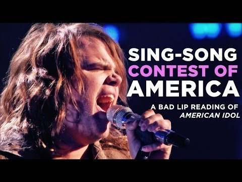 "Thumbnail: ""SING-SONG CONTEST OF AMERICA"" — A Bad Lip Reading of American Idol"