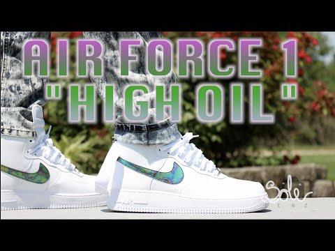 Air Force High Oil Slick White On