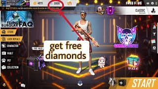 Free Diamond, get free diamond in free fire working trick/giveaway