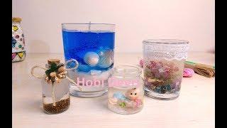 DIY How to Make Gel Candles, Jel Mum Yapılışı, Kendin Yap