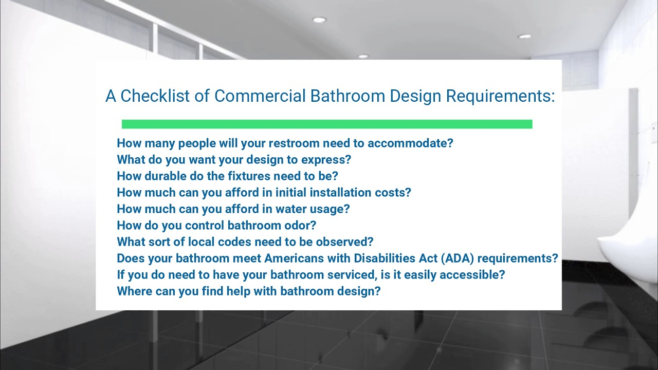 Commercial Restroom Design - Bathroom Dimensions - One Point Partitions