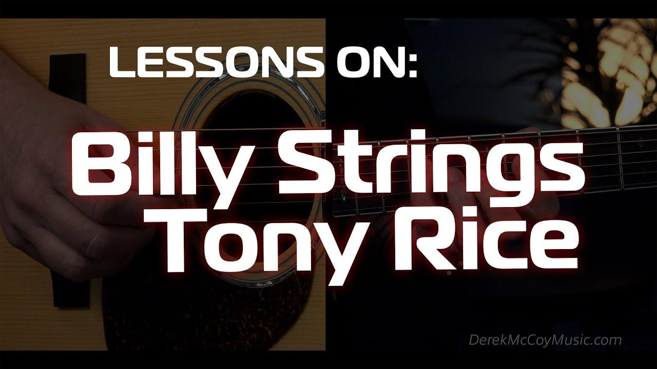 Billy Strings & Tony Rice Bluegrass Guitar Lesson/Licks in G Major