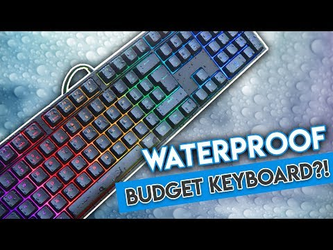 This Budget RGB Keyboard is... WATERPROOF?! [Cooler Master Masterkeys Lite L Combo Review!]