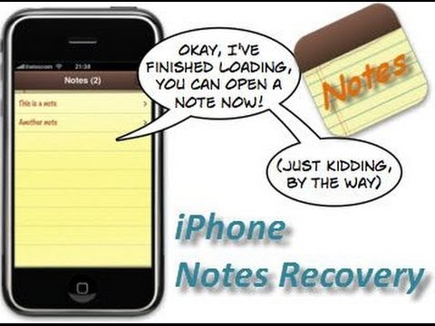 How to recover deleted notes on iPhone 5S, 5C, 5 and iPhone 4S\/4\/3GSVideo Guide  YouTube
