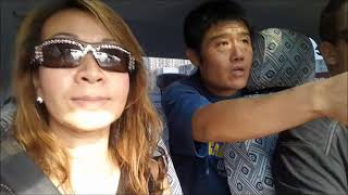 Thai lady follow her husband for rent a car in Beijing DV.48