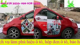 Thiết kế và thi công dán quảng cáo trên xe ô tô chạy Grab tại Hồ Chí Minh và Hà Nội