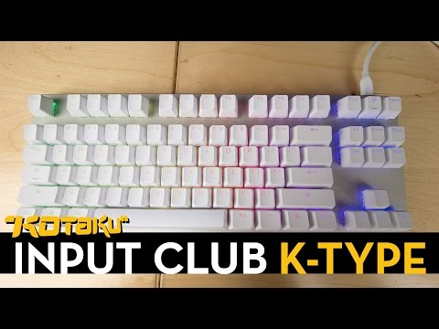 Typing on the K-Type Prototype with Blue Switches