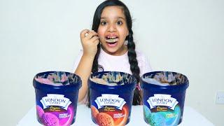 शफ़ा ने खायी अलग-अलग आइसक्रीम।