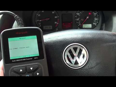 iCarsoft i810 Diagnose VW Golf Engine Warning Light P0420 Bank 1 O2 Sensor