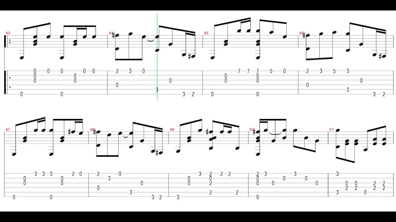 Metallica Nothing Else Matters Acoustic Guitar Tab Sugitara