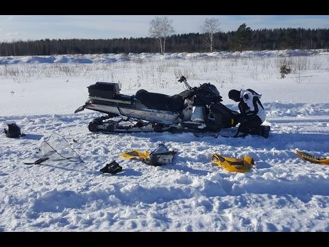 Разбили снегоход BRP