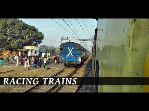 SHATABDI exp vs KALINDI exp : Parallel Departure from Rohtak (Indian Railways)