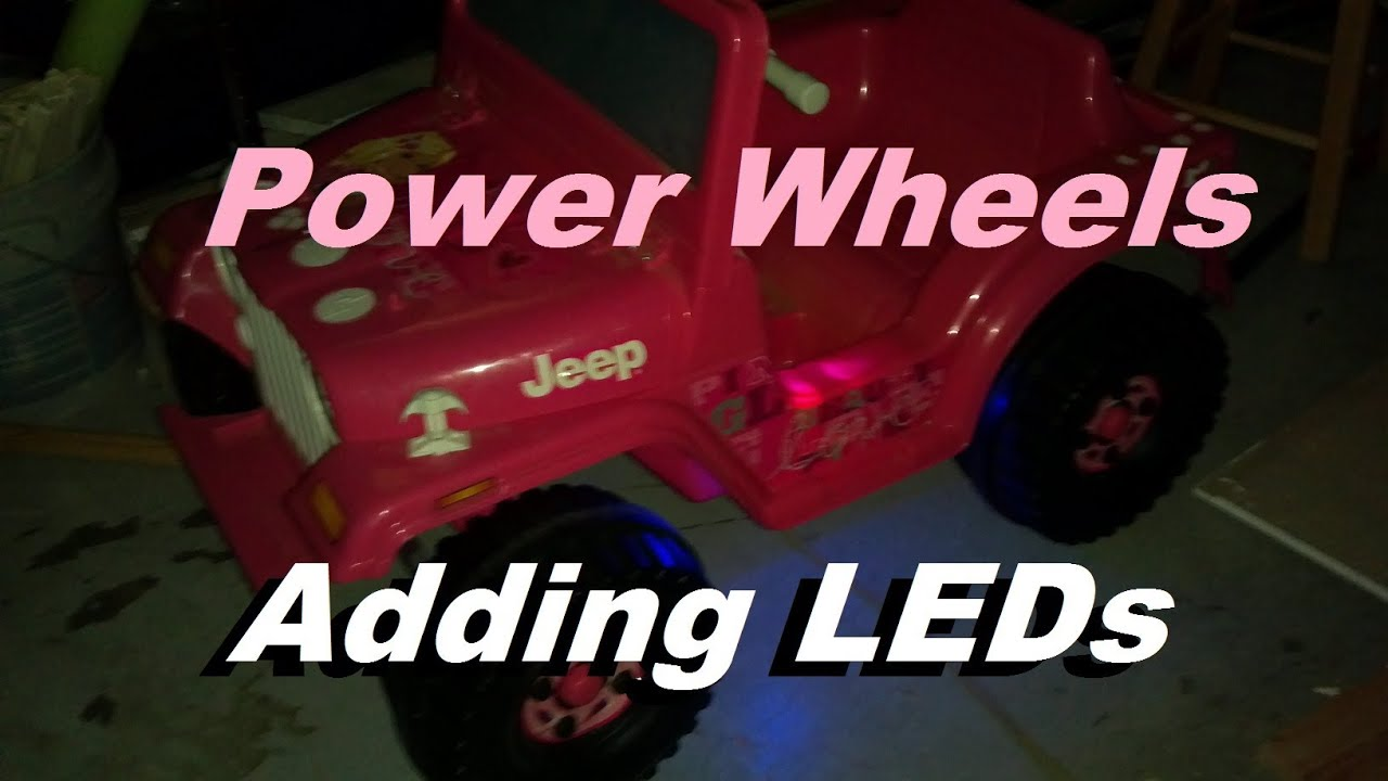 Jeep Power Wheels Wiring Diagram Led Trusted 12 Volt Add Leds To 6 Youtube Driveway Racer