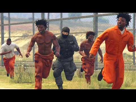 GTA 5 WAR #5 - PRISON BREAK JAIL BATTLE! (GTA V Online)