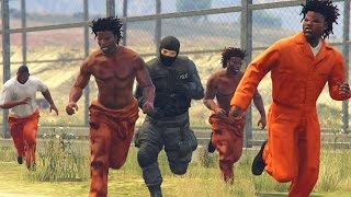 GTA 5 WAR #5 - PRISON BREAK JAIL BATTLE! (GTA V Online)