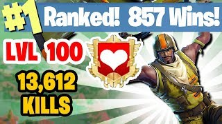 1 world ranked 857 wins 13 612 kills sponsor goal 401 450 fortnite battle royale livestream