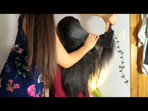 ASMR HAIR TIINGLES GALORE!! Hair Brushing + HairPlay w. SUPER TIINGLY Back Scratching!! 💆🏻😴💖