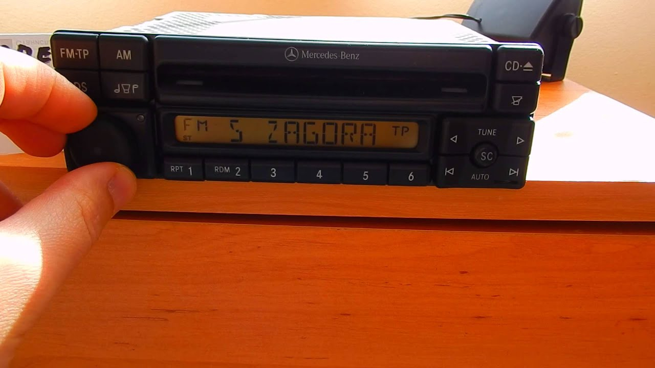 entering the key code on mercedes / alpine radio cd player mf2197