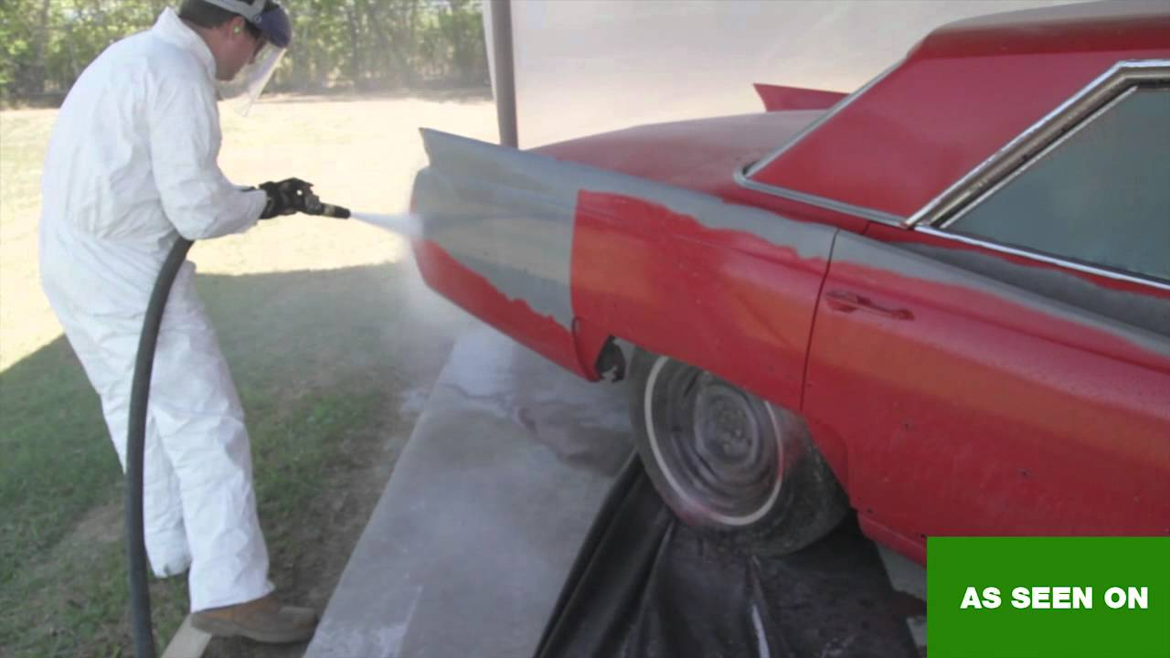 Blasting A 1964 Cadillac With The Dustless Blaster