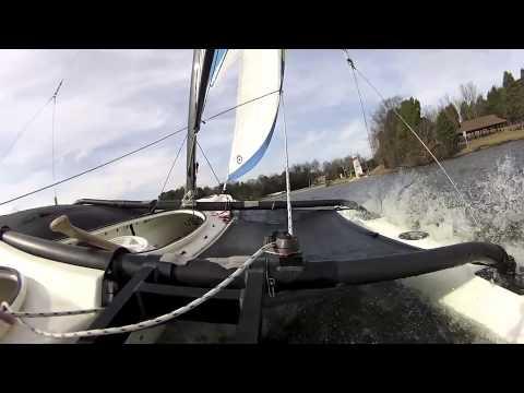 WindRider 17 in Heavy Winds