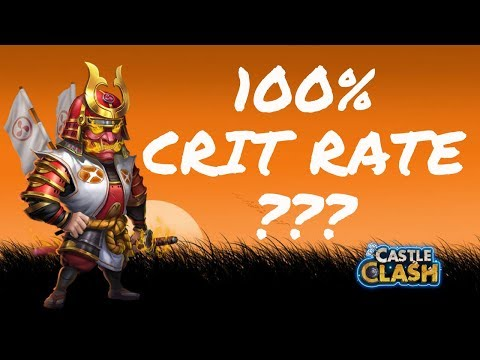 CAN RONIN CRIT 100% OF THE TIME - CASTLE CLASH