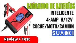 Suaoki Cargador de Baterias Coche 4 Amp 6/12V | UnBoxing Review en Español