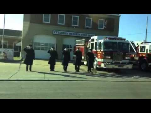 WWII Veteran Firefighter Funeral Procession