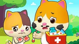 小貓咪受傷了 | 最新好習慣兒歌童謠 | 安全教育卡通動畫 | 寶寶巴士 | 奇奇 | Learn Chinese | BabyBus